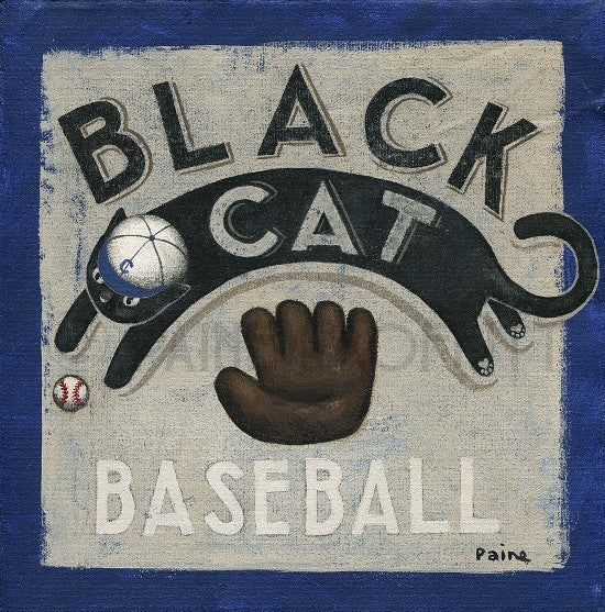 Image of Black Cat Baseball I