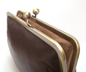 Image of Brown leather purse