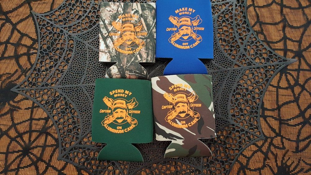 Image of Captain Catfeesh Koozies
