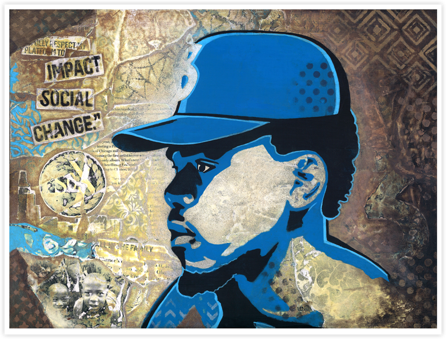 Image of Chance the Rapper -  Social Change - Print