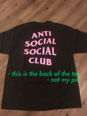 "Image of anti social social club ""88 sushi"" t-shirt, black/pink, brand new"