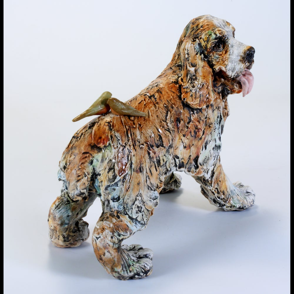 Image of Ceramic Dog Sculpture - Lucky