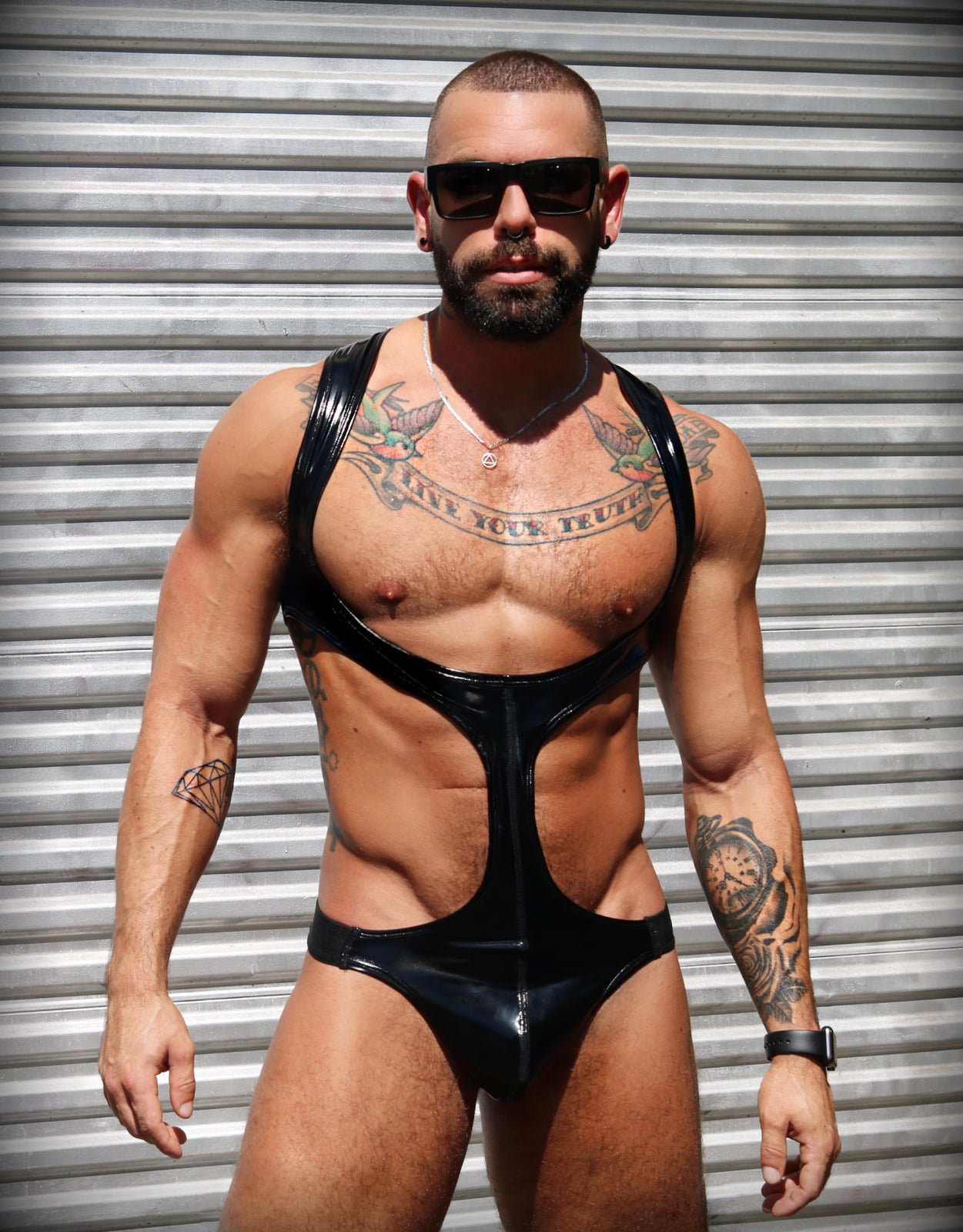 Image of THE MASTER SINGLET   (glossy black)