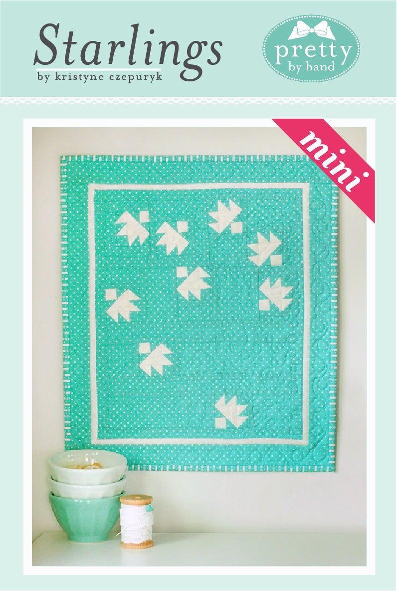 Image of PDF ONLY - Starlings Mini Quilt