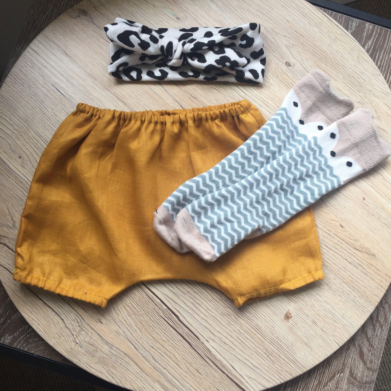 Image of Mustard Shorts- elastic cuff