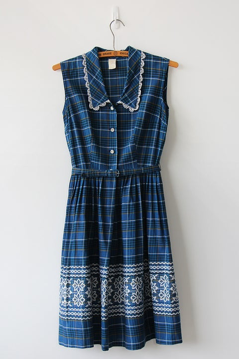 Image of SOLD A Touch Of Sparkle Plaid Dress