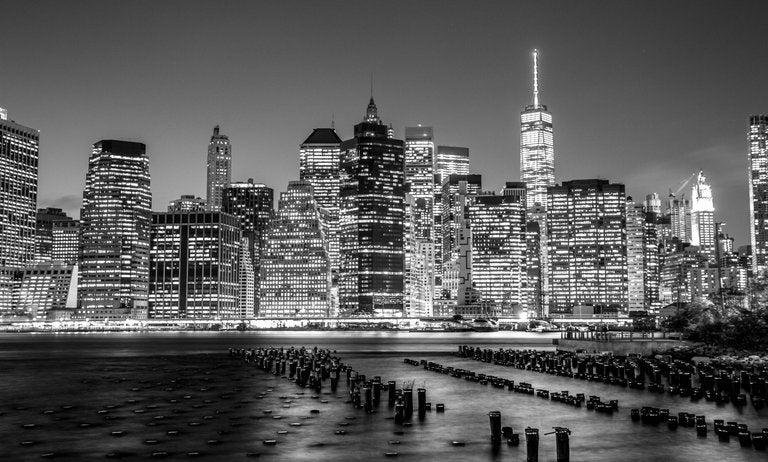 Image of NYC Skyline B+W