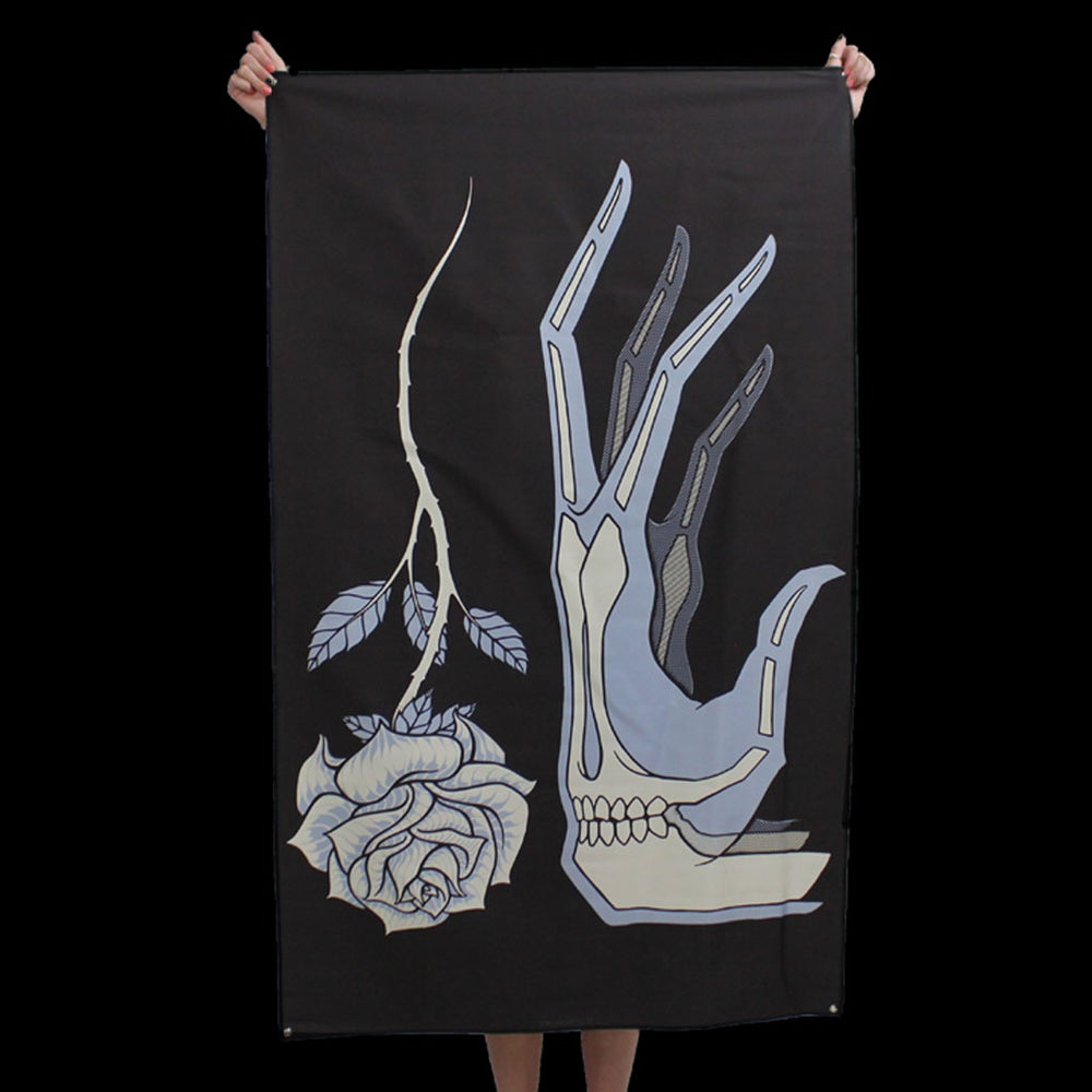 Image of HAND & FLOWER TAPESTRY
