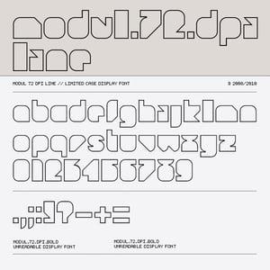 Image of Modul 72 dpi Line font