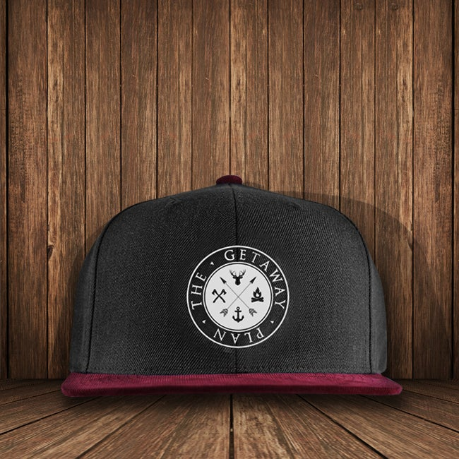 Image of Grey/Burgundy Logo Hat