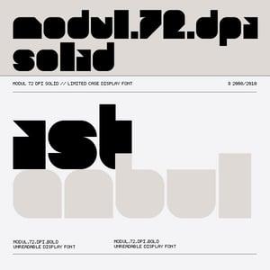Image of Modul 72 dpi Solid font
