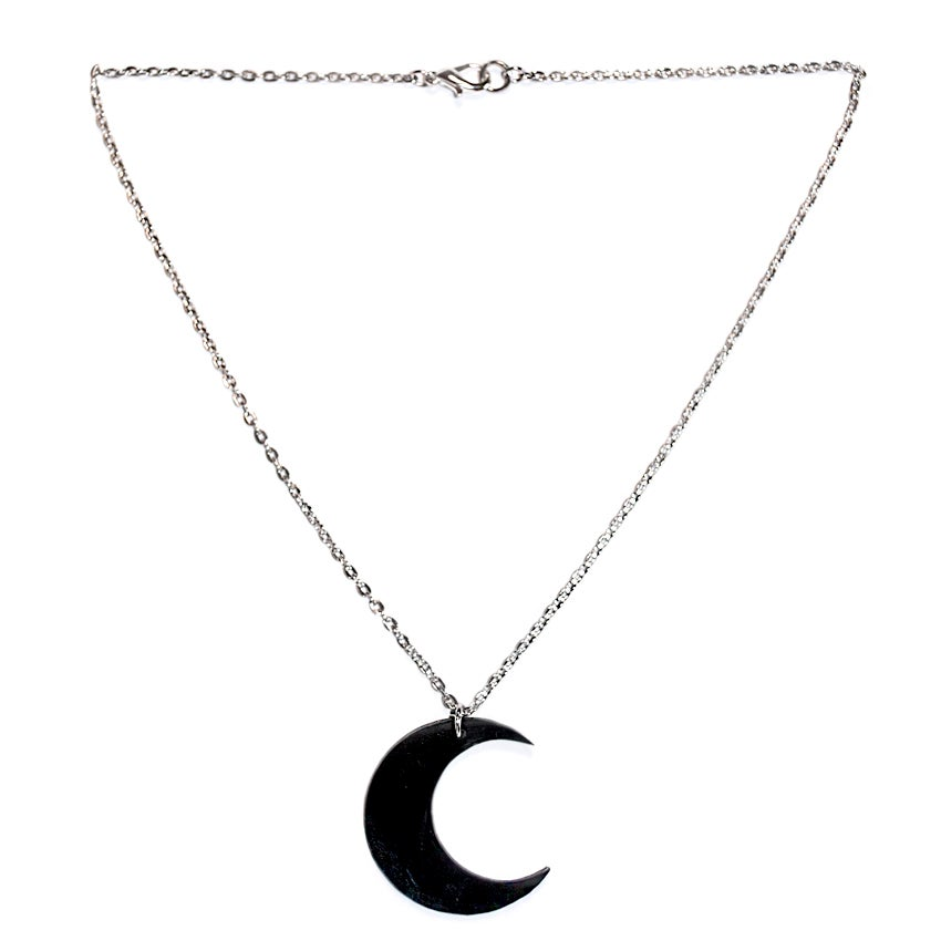 Image of Dark crescent necklace
