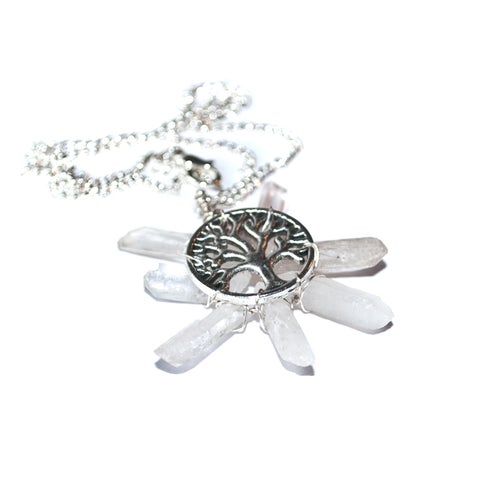 Image of Crystal Sun Necklace