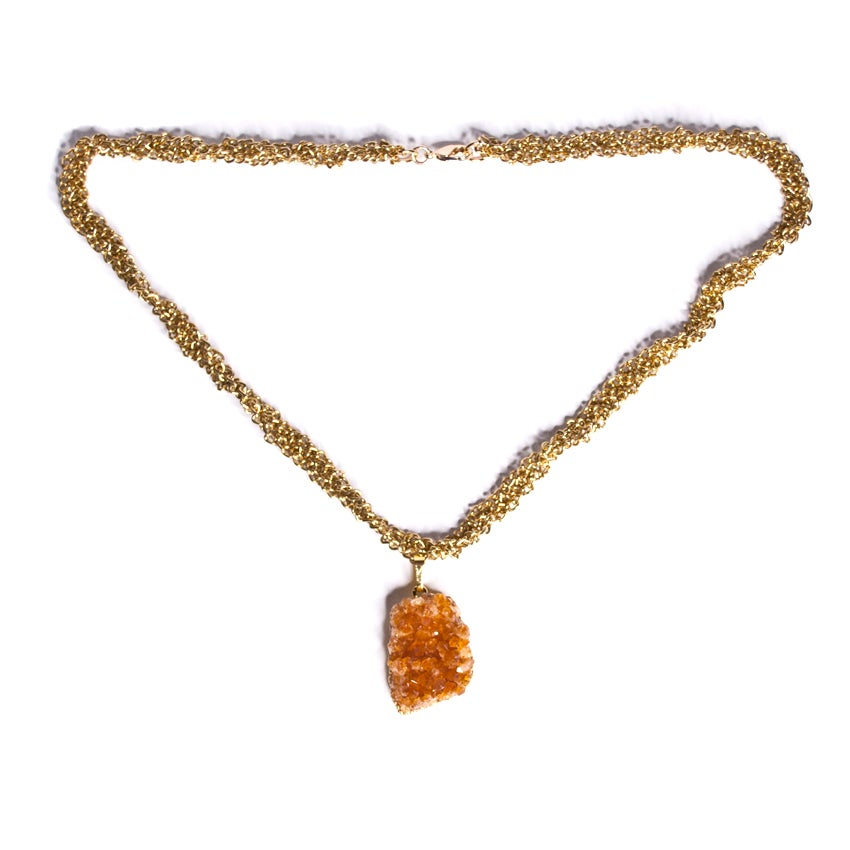 Image of golden braid necklace