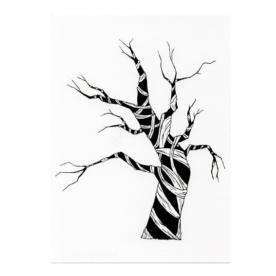 Image of Mummy tree postcard