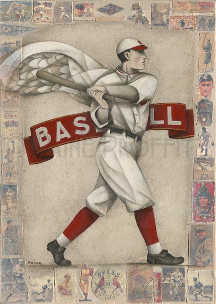 Image of Baseball Winged