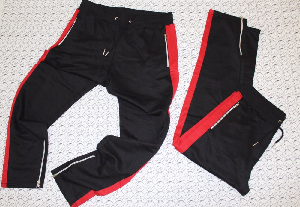 STRIPE JOGGERS (Red/Black)