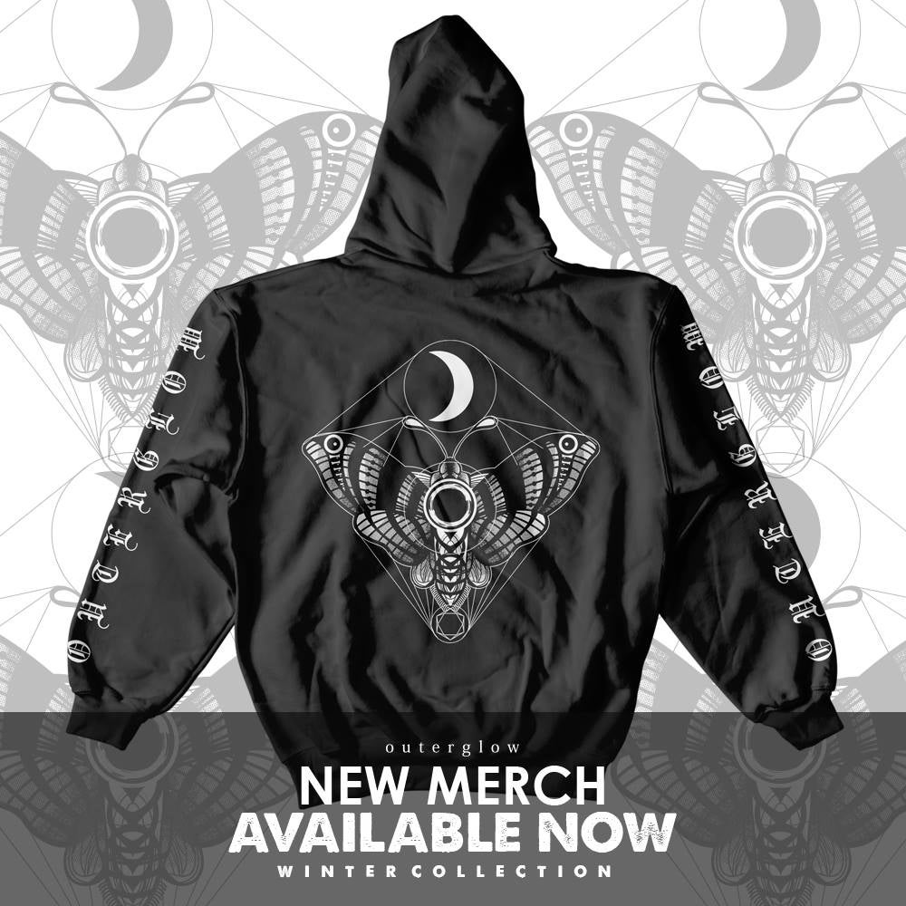 """Image of Outer Glow """"Luna Moth"""" hoodie"""