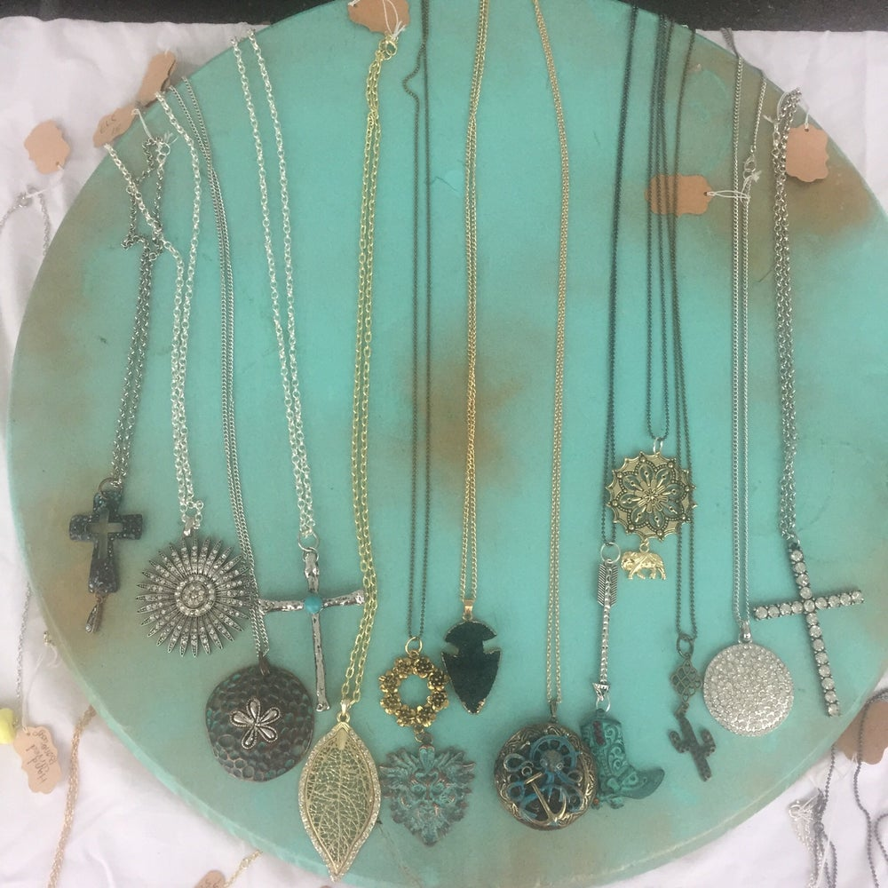 Image of Aqua Circle Collection