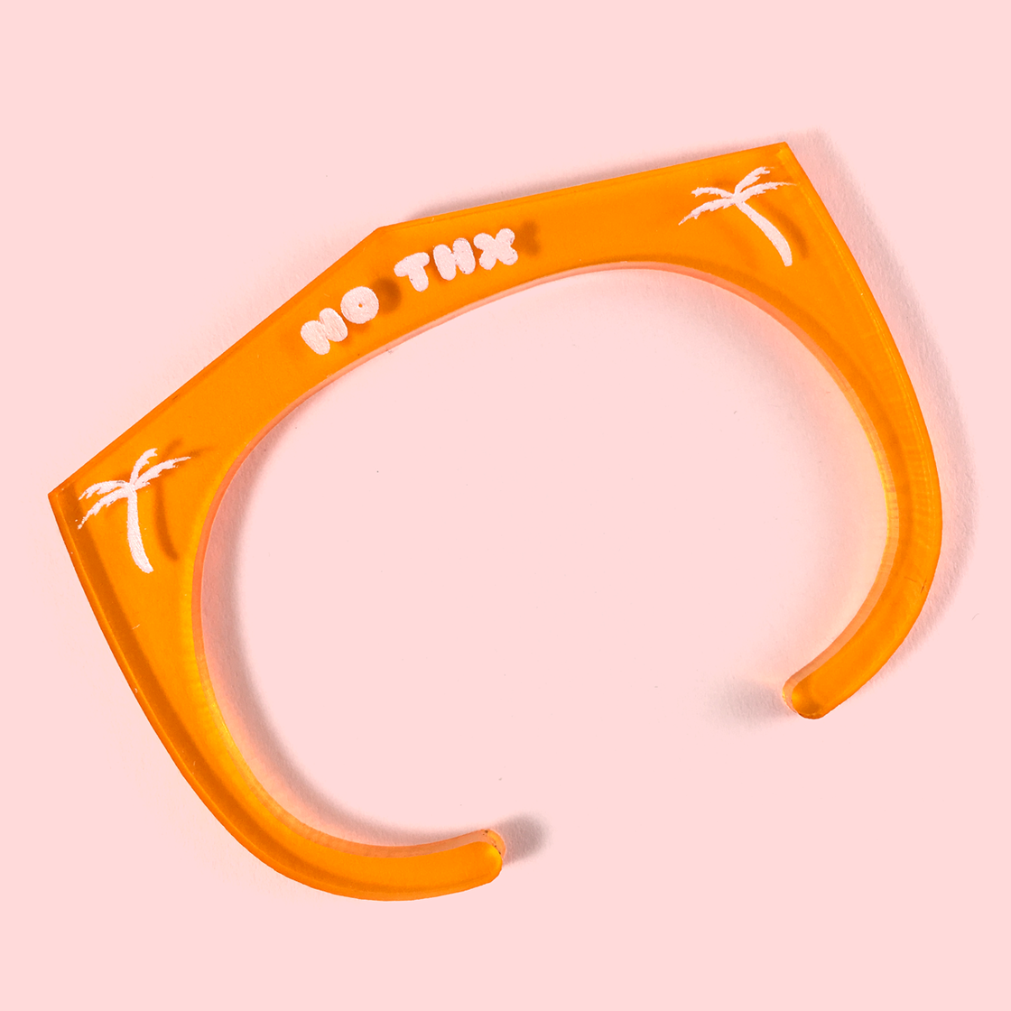 Image of NO THX acrylic cuff bracelet