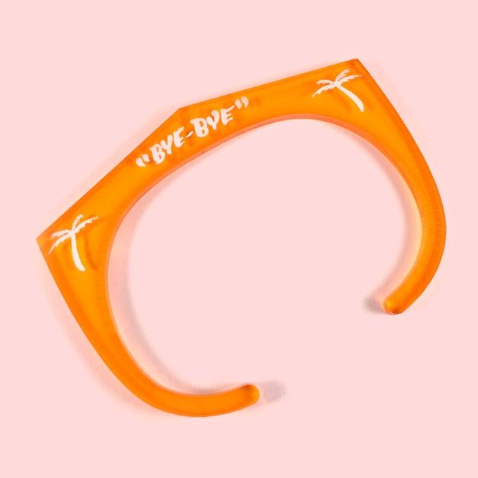 Image of Bye-Bye acrylic cuff bracelet