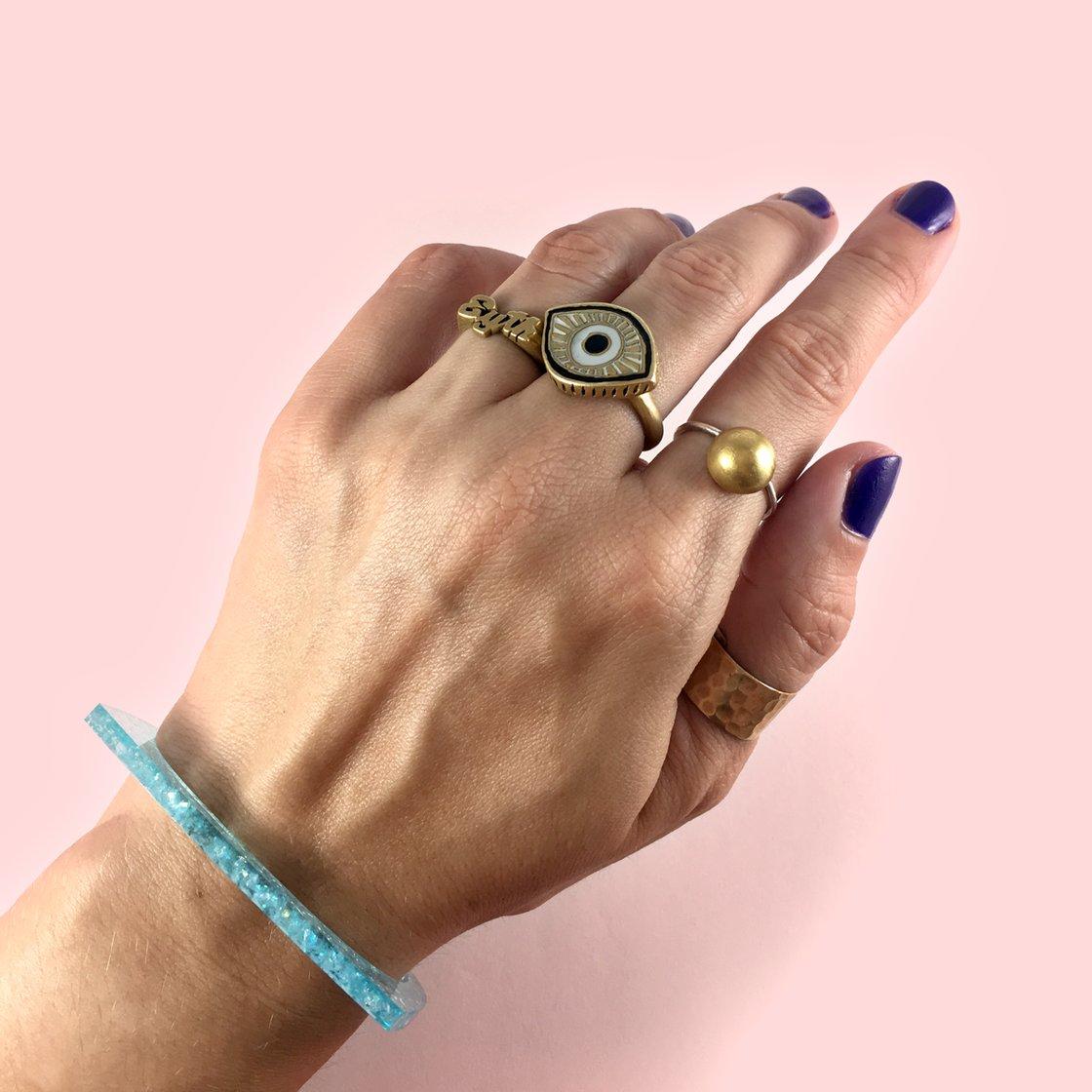 Image of I Don't Fucking Care If U Like It acrylic cuff bracelet