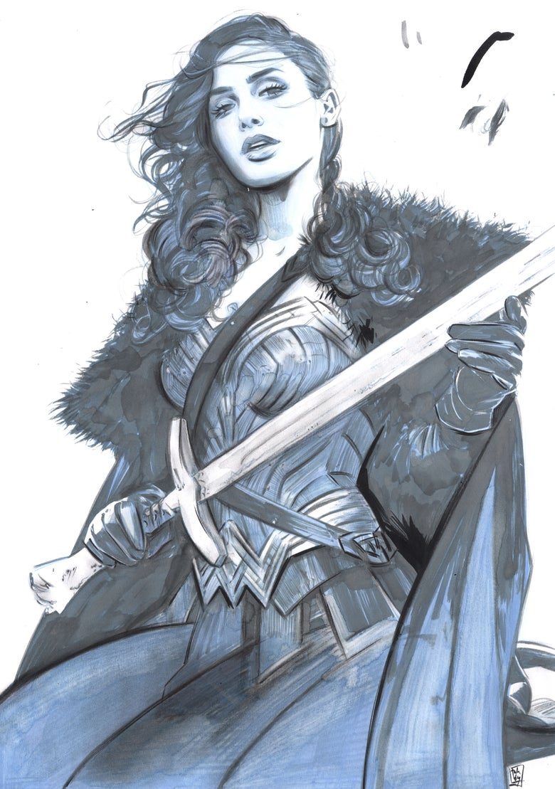 Image of WONDER WOMAN MONDO ORIGINAL ART