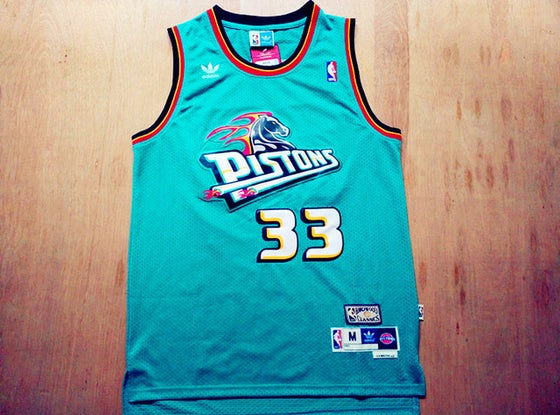 Image of NBA Detroit Pistons Grant Hill #33 Swi ngman Swen/Stitched Jersey NWT