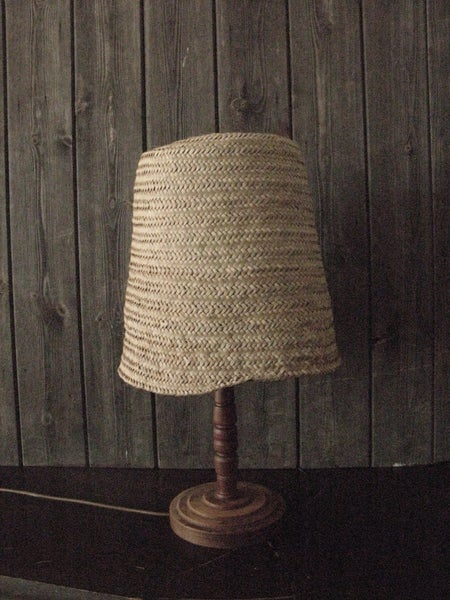 Image of Palm leaf lamp shades