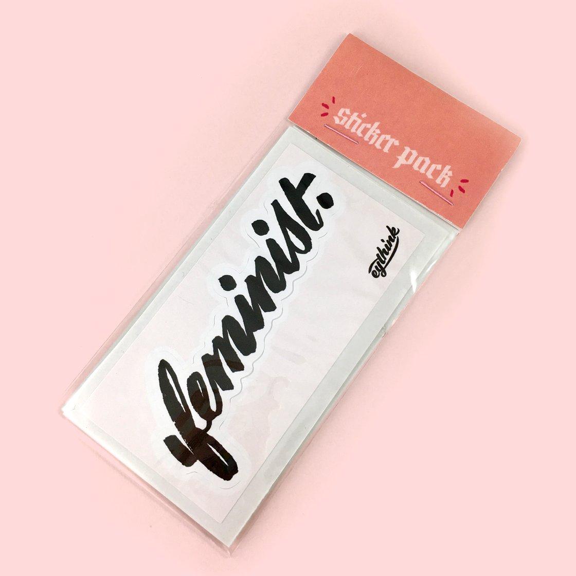 Image of Feminist Sticker 4-pack
