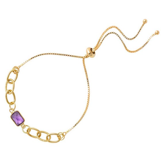 Image of AMETHYST ADJUSTABLE SLIDER BRACELET