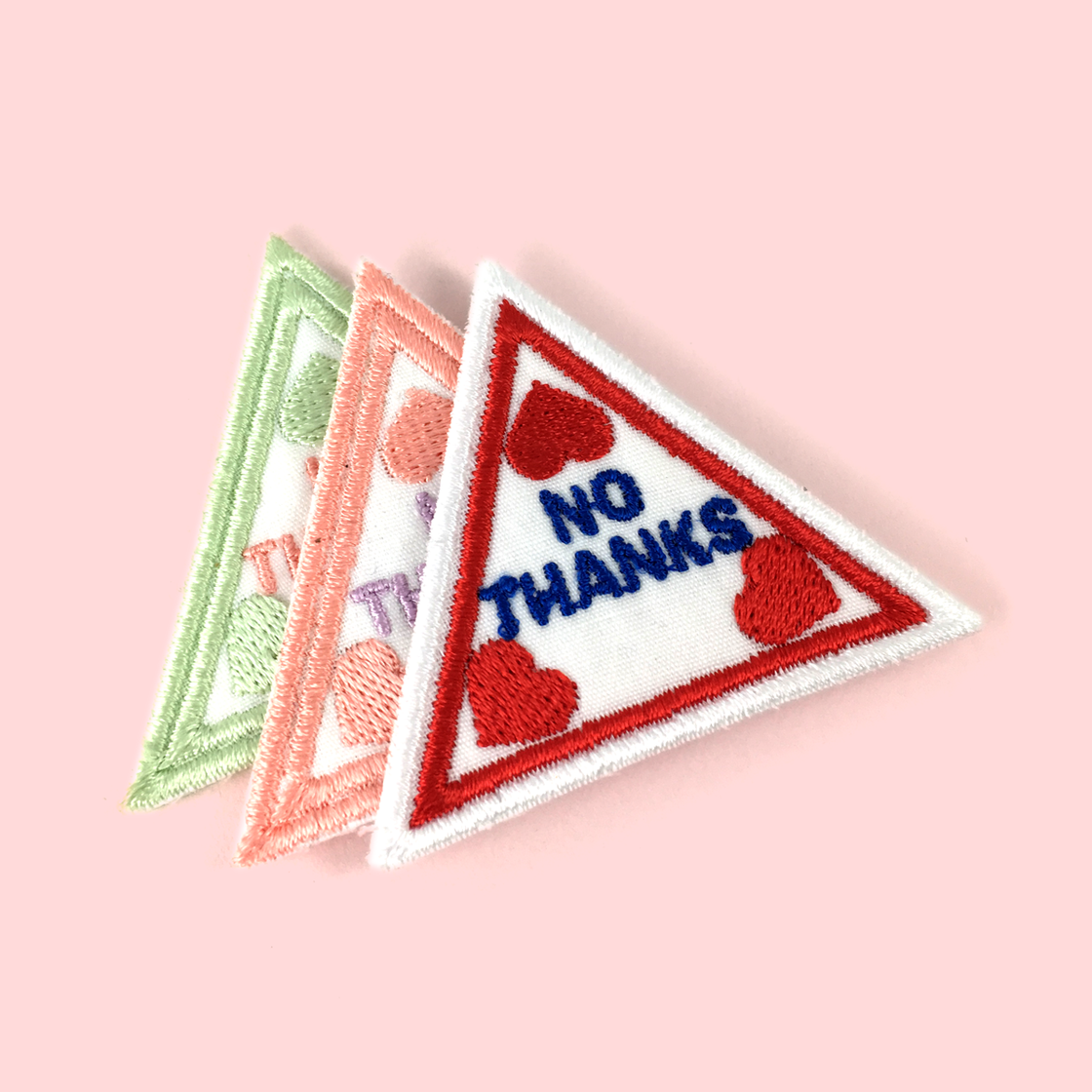 Image of No Thanks embroidered patch