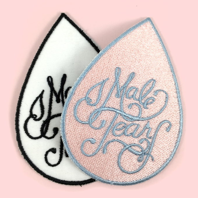 Image of Male Tears embroidered patch