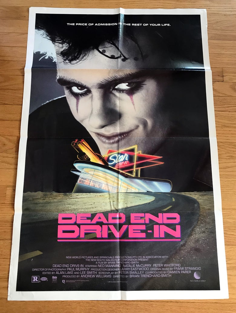 Image of 1986 DEAD END DRIVE-IN Original New World Video Promo Poster