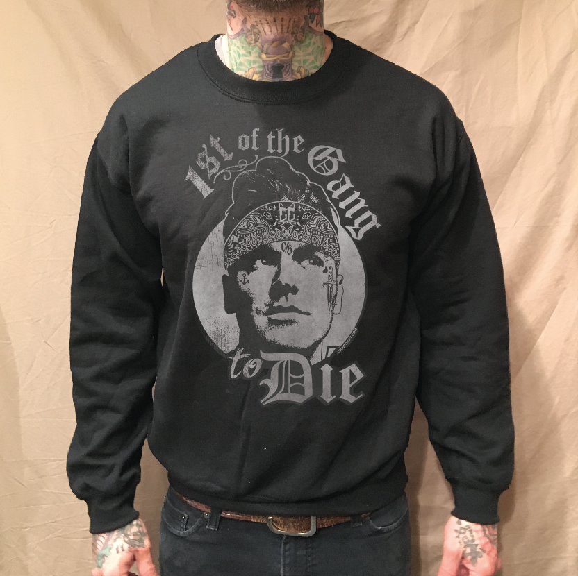 Image of MOZ BANDANA BLACK CREWNECK SWEATER