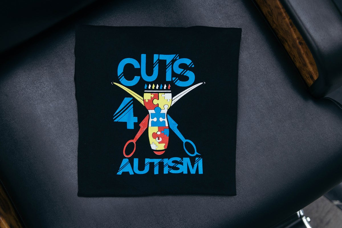 "Image of ""Cuts 4 Autism"" Tee."