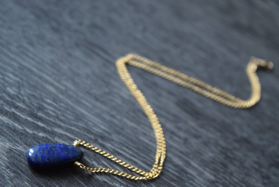 Image of The Lapis Drop necklace