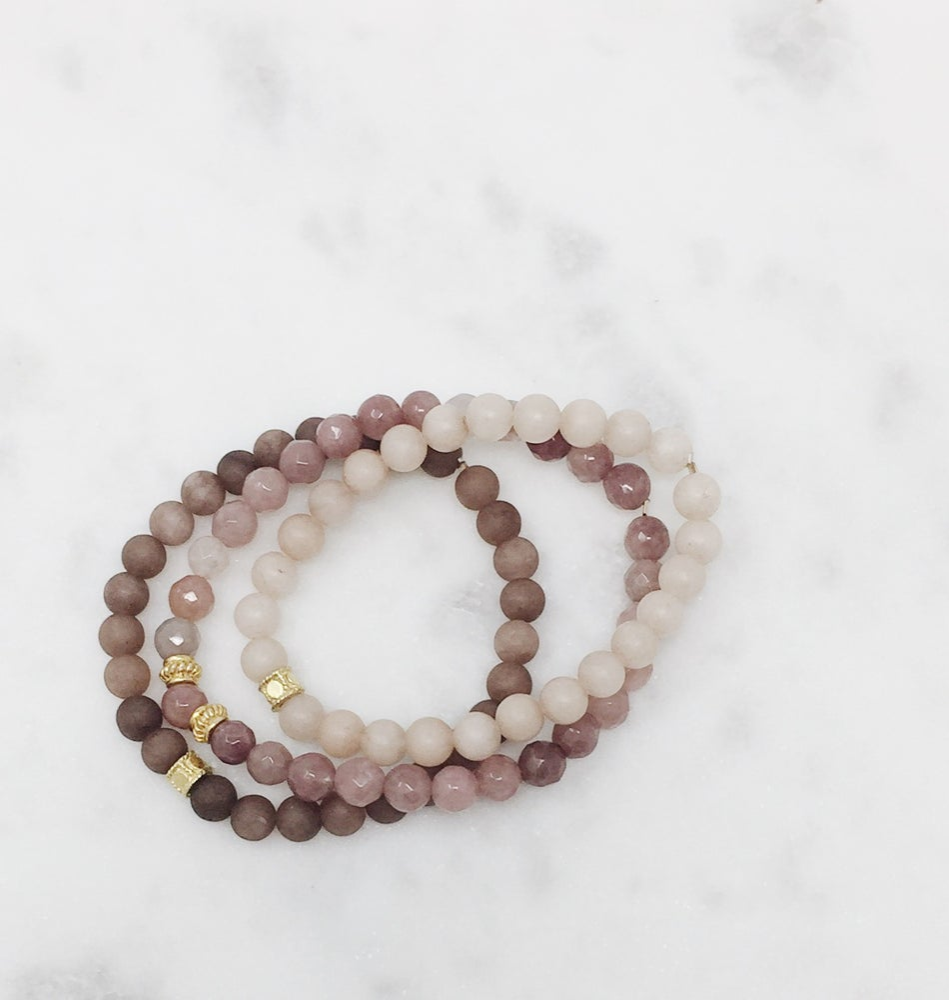 Image of Dusty Rose Bracelet Set