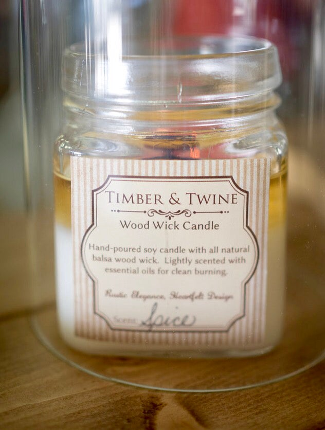 Image of All Natural Wood Wick Candle