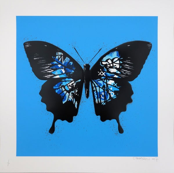 "Image of Martin Whatson ""Butterfly"" Special Edition Blue"