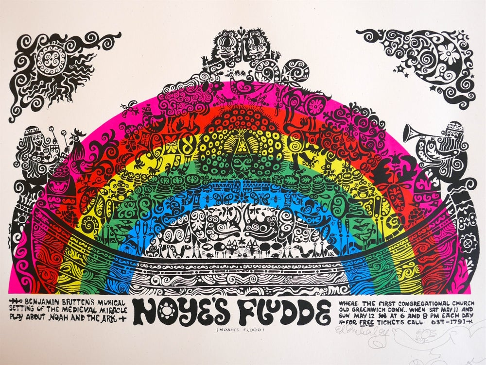 Image of Ed Emberley Noyes Fludde screenprint