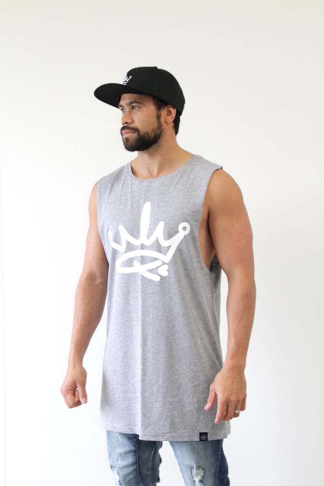 Image of ROYALTY TANK SINGLET - GREY