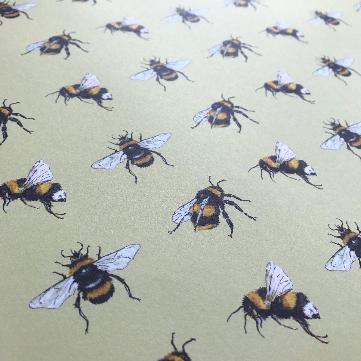 Image of Yellow Bee gift wrap range  - 100% recycled