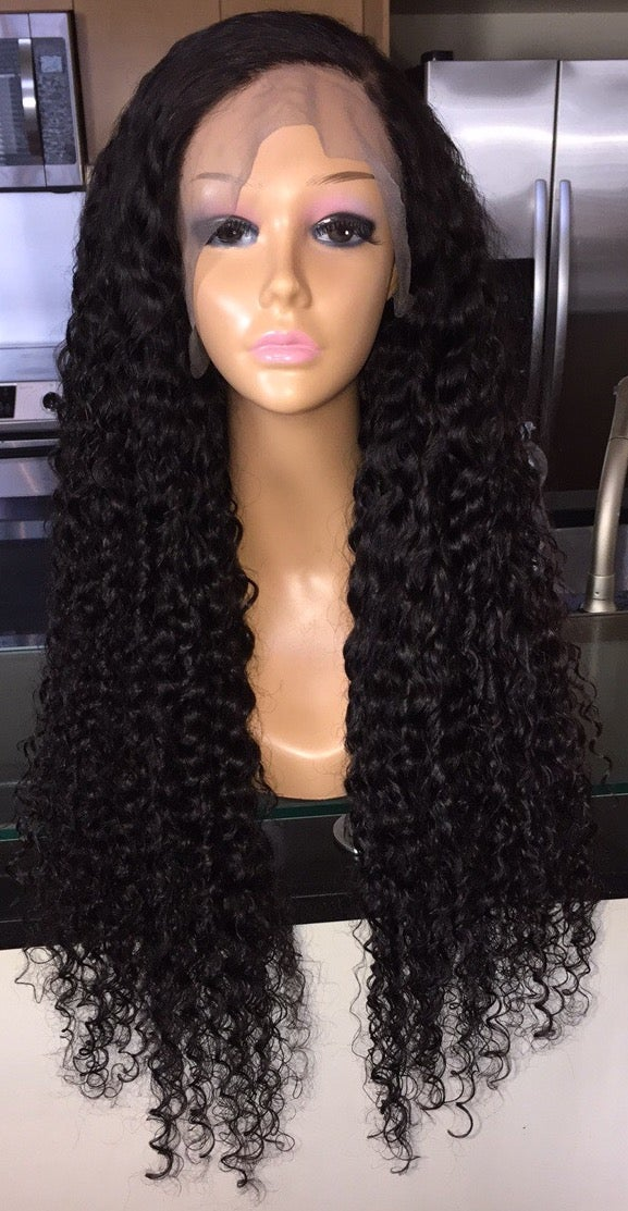 "Image of Indian Wavy/Curly 28"" Custom Lace Frontal Wig! (Super Full)"