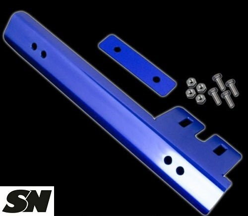 Image of (All Sentras) Front Bumper License Plate Relocation Bracket (Red/Black/Blue/Gold)