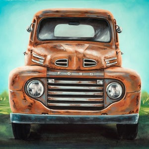 Image of Farm Truck / Giclee Canvas Wrap