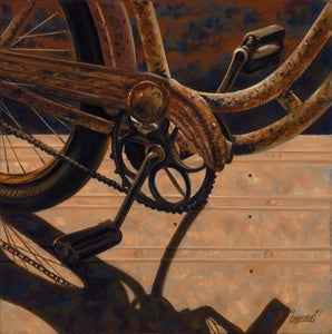Image of Rusty Bicycle / Giclee Canvas Wrap