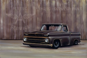 Image of Chev C-10 / Metal Print