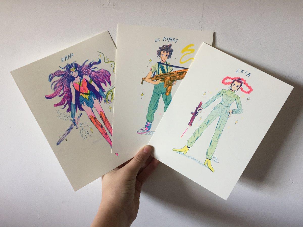 Image of Super Women Riso Print Series