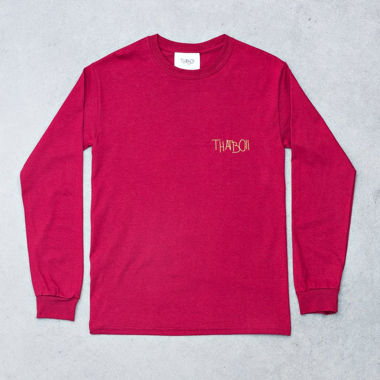 Image of THATBOII LONGSLEEVE - CARDINAL RED